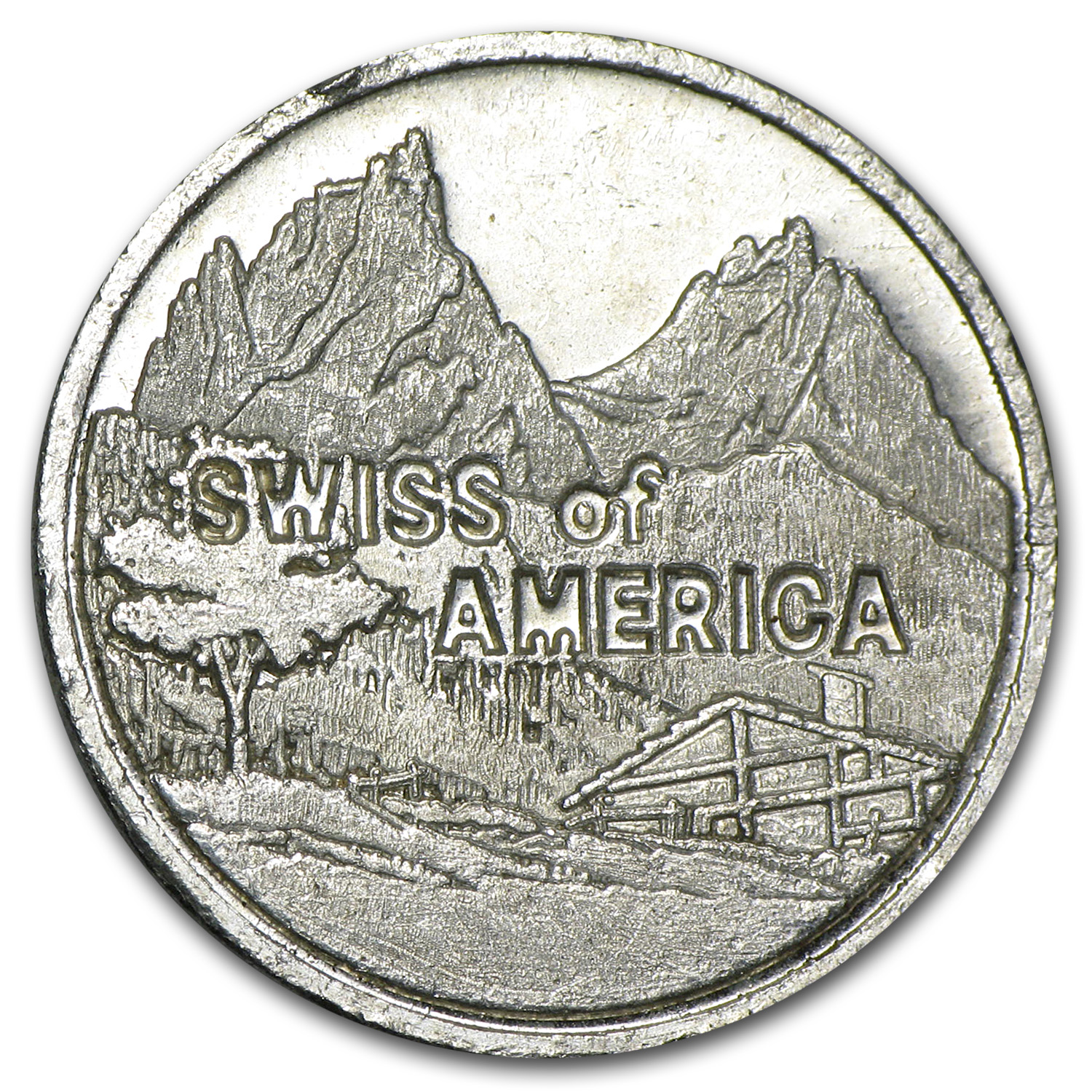 1 oz Silver Rounds - Swiss of America (23.5 mm)